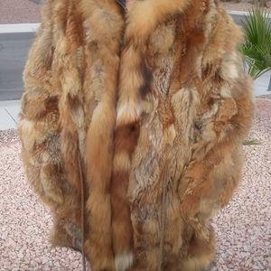 ONE DAY🔥RED FOX GENUINE FUR COAT
